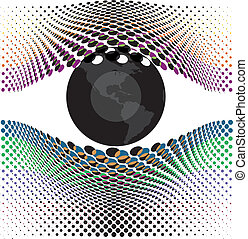Look at my eyes. Vector illustration made in adobe ...