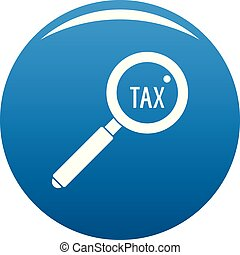 Look at tax icon vector blue