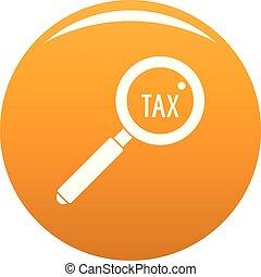 Look at tax icon vector orange