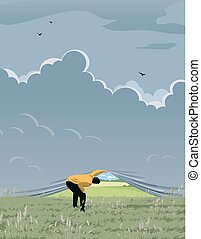 Look for new perspectives - The man pushes the horizons to...