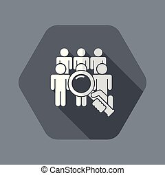 Look for person - Flat and isolated vector illustration icon...