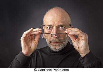 look over reading glasses