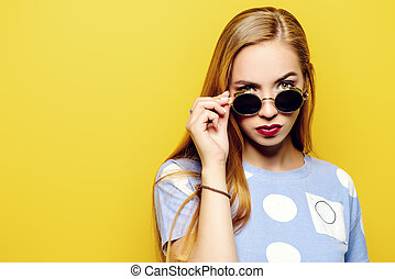 look over sunglasses
