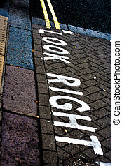 look right street in london