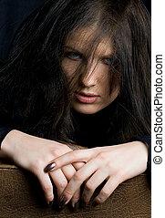 look - infernal brunette portrait