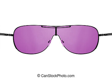 Look through pink sunglasses - Wishful thinking concept....