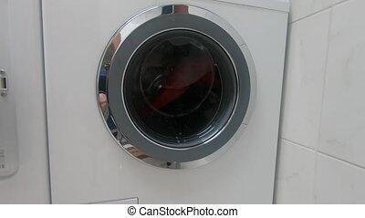 Look to the working washing machine