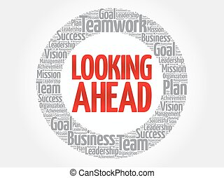 Looking ahead stock illustration images 621 looking ahead looking ahead circle word cloud business concept thecheapjerseys Images