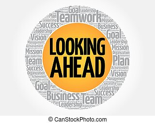 Looking ahead stock illustration images 586 looking ahead looking ahead word cloud collage business concept thecheapjerseys Image collections