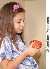 looking at apple