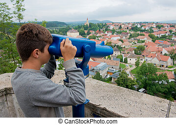 Looking at the panorama