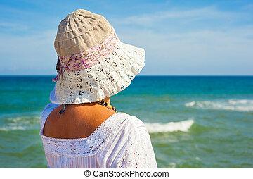 Looking at the sea