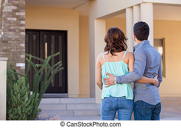 Looking at their brand new house