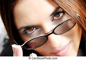 Looking at you - A secretary looking at you.