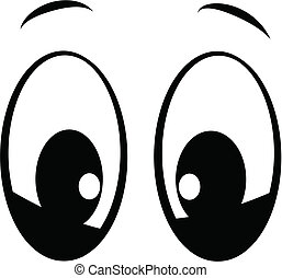 looking at you eyes - cartoon style eyes in black looking at...