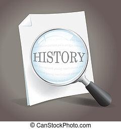 Looking back at history - Taking a closer look at history.