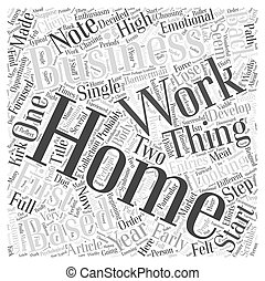 Looking Back On My First Year With A Home Based Business Word Cloud Concept