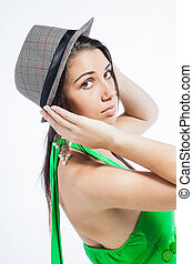 Looking back while holding her hat. - Beautiful upcoming ...
