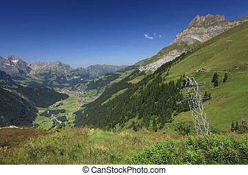 Looking down at Engelberg from Fuerenalp - Photo of the...
