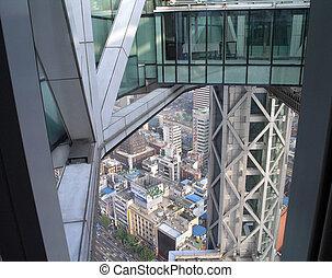 Looking down at Seoul South Korea