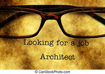 Looking for a job - Architect