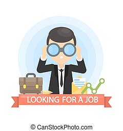Looking for a job.