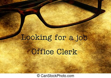 Looking for a job - office clerk