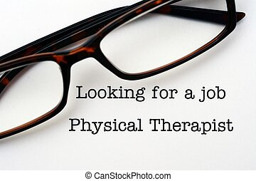 Looking for a job Physical Therapist