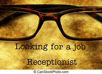 Looking for a job - receptionist