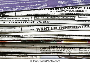 Looking for a job concept - many uses for employment and job...