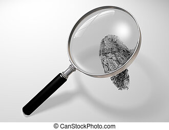 Looking for clues - Illustration of a magnifying glass...