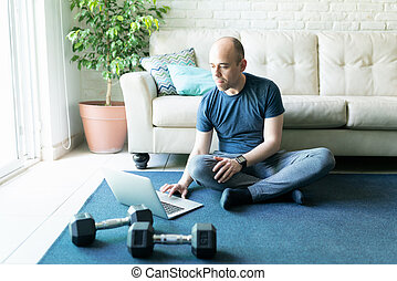 Looking for exercise routines online