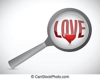 looking for love concept illustration design