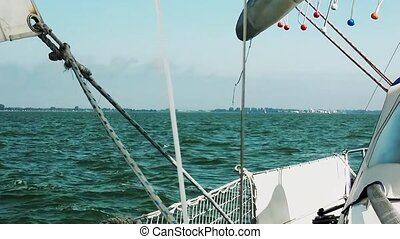 Looking from sailboat over the IJsselmeer. - Polyester...