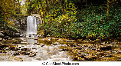 Looking Glass Falls in the Appalachians of North Carolina