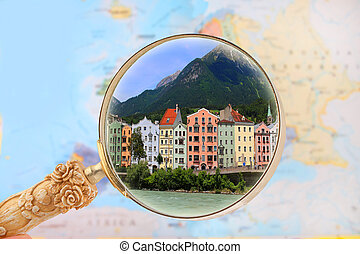 Looking in on Innsbruck, Austria