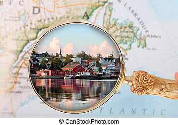 Looking in on Lunenburg, Nova Scotia