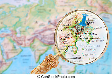 Tokyo on the map tokyo capital city of japan on the world map looking in on tokyo japan gumiabroncs Image collections