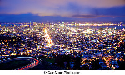 Looking over San Francisco