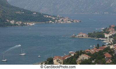 Looking over the Bay of Kotor in Montenegro