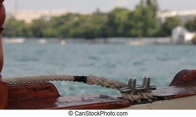 Looking overboard - looking overboard a recreational vessel...