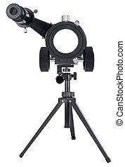 Looking through astronomy telescope - Looking through a ...