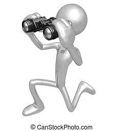 Looking Through Binoculars - 3D Concept And Presentation ...