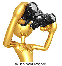Looking Through Binoculars - 3D Concept And Presentation...