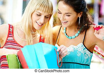 Looking through shoppings