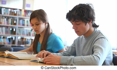 Looking through textbooks