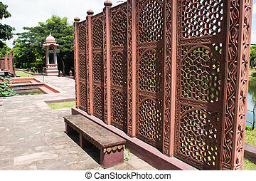 the indian design carving screen