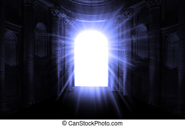 looking through the tunnel after death and decease