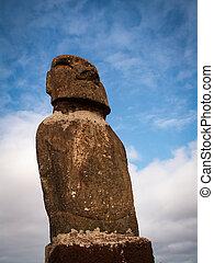 Looking Up At Moai