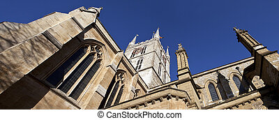 Looking up at Southwark Cathedral